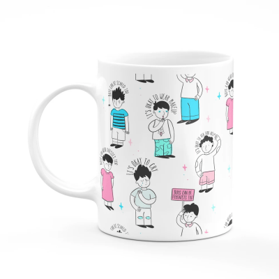 its okay to cry ceramic illustrated mug wholesale home accessories