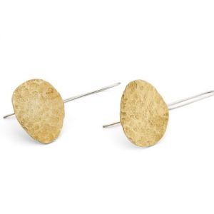 Brass Pebble Earrings - BRASS PEBBLE EARRINGS1 500x500