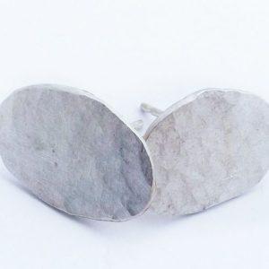 Eco-Silver Pebble Studs
