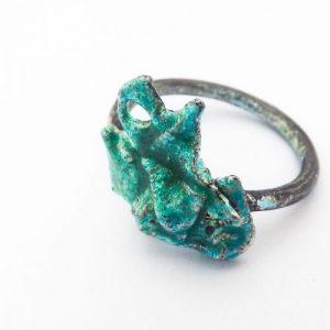Enamelled Silver Ring