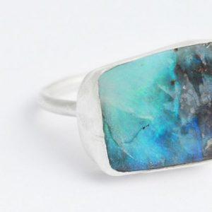 Large Boulder Opal Ring