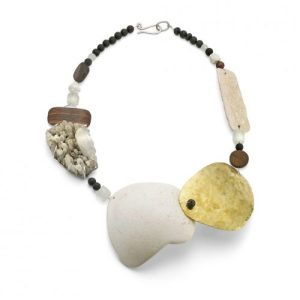 Statement Beach Plastic Collage Necklace