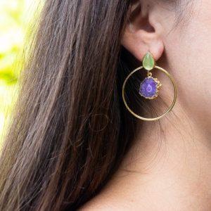Aburi Gold Hoop Earrings