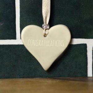Congratulations Ceramic Hearts