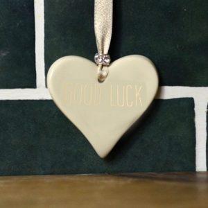 Good Luck Ceramic Hearts