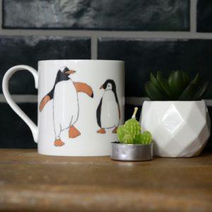 Penguin Fine Bone China Mug - Penguin Mug  500x500