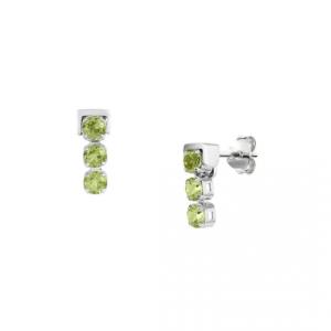 San Shi Peridot Stud Earrings, Sterling Silver