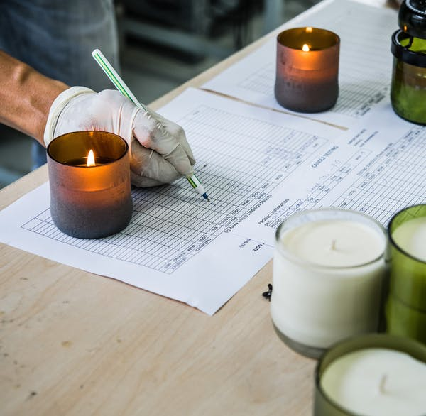 Wholesale Scented Candles | Independent Candles Suppliers - WOO Lucky Candle Matt Green production