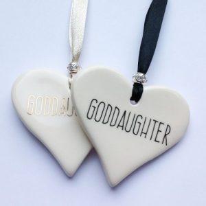 Goddaughter Ceramic Hearts