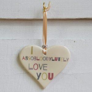 Wording Ceramic Hearts
