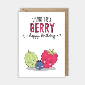 Birthday card – A berry happy birthday