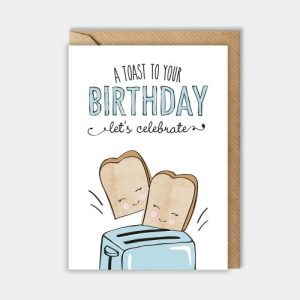 Birthday card – A toast to your birthday. Let's celebrate!