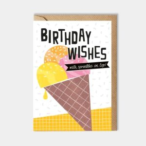 Birthday card: Birthday wishes with sprinkles on top