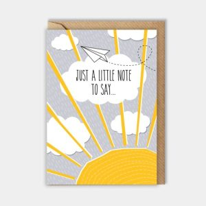 Everyday card: Just a little note to say…