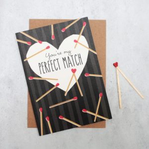 Love card: you're my perfect match