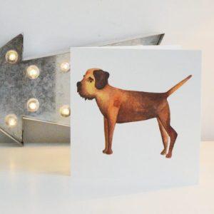 Border Terrier Greetings Card