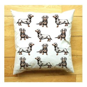 Dachshund Large Cushion | Handmade and Designed by Gemma Keith - Dachshund Cushion 1 500x500