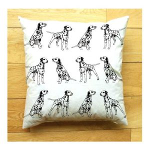 Dalmatian Medium Cushion | Handmade and Designed by Gemma Keith - Dalmatian Cushion 1 500x500