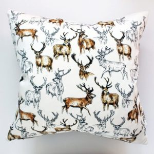 Stags Medium Cushion | Handmade and Designed by Gemma Keith - Gemma Keith Designs Stag Cushion 500x500