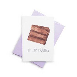 HIP HIP HOORAY Chocolate Fudge Greeting Card