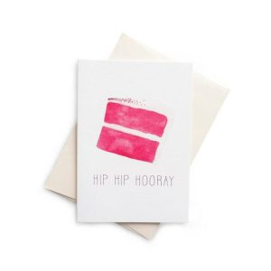 HIP HIP HOORAY Red Velvet Greeting Card