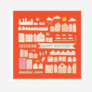 Happy Birthday City Card