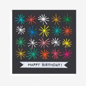 Happy Birthday Starburst Card