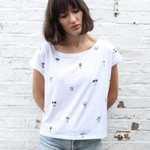 Mushroom Medley T-Shirt White (Womens)