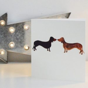 Smooth Haired Dachshund Greetings Card
