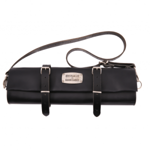 """The Classic Kniferoll"" Large 12-Sloth Leather Kniferoll Bag - Black - The Kniferoll 12   Black 500x500"
