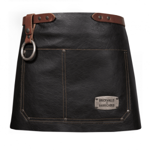 """The Premium Bistro"" 100% Stain-Free Leather Waist Apron - The Premium Bistro black 500x500"