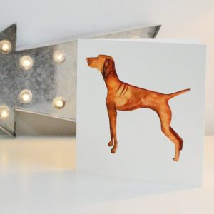 Vizsla Greetings Card
