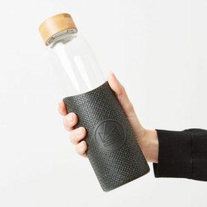 Neon Kactus Reusable Glass Bottle - Rock Star 550ml - Black01 scaled 500x500