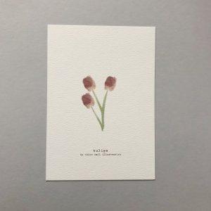 Tulips A5 Print - CHMP013 A5 Tulips 500x500