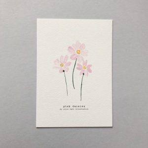 Pink Daisies A5 Print - CHMP014 A5 Pink Daisies 500x500