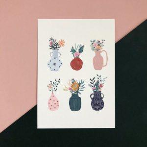 Vases A4 Print - CHP042 A4 Vases 500x500