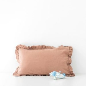 Cafe Creme Kids Frilled Washed Linen Pillow Case - Cafe Creme Frilled PIllow Case 500x500