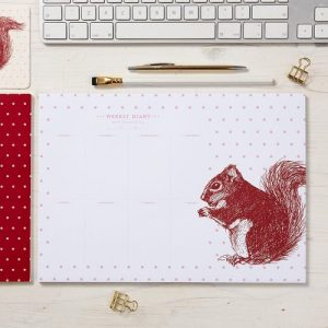 Cheery Red Squirrel Weekly Planner - Cheery Red Squirrel Weekly Planner 500x500