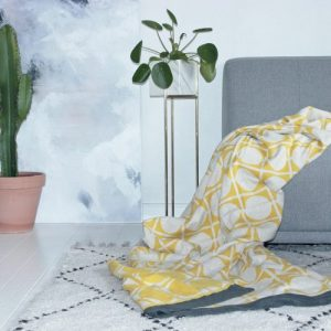 Don Plaid 100% Brushed Cotton Blanket - Don blanket yellow02 300 500x500