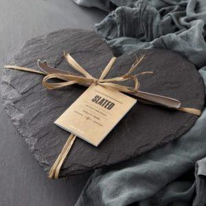 Heart Cheese Board Gift Set