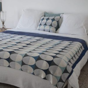 Olivia Plaid 100% Brushed Cotton Blanket - Olivia blanket pillow darkblue01 scaled 500x500