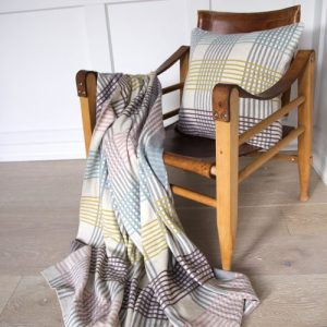 Ruth Plaid 100% Brushed Cotton Blanket - Ruth blanket chair01 500x500