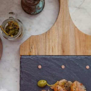 Slate and Wood Paddle Board Serving Platter - Slate and Wood Paddle Board Serving Platter1 500x500
