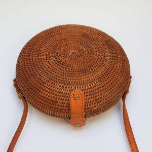 Curved Round Atta Bali Bag