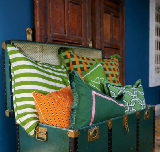 Cushion Grace Dark Green