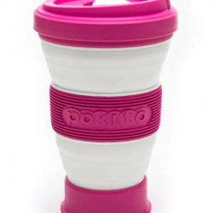 Reusable Collapsible Coffee Cup - Raspberry - pokito cup raspberry 500x500