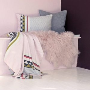 Vilma 100% Brushed Cotton Blanket - vilma blanket pink01 500x500