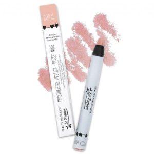 Moisturizing lipstick – Glossy Nudes – CORAL – 6 g. Vegan