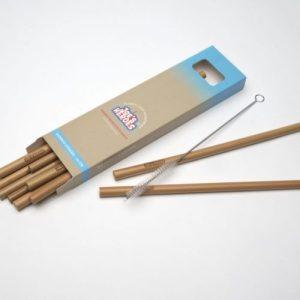 Bamboo Straws 10 pieces 21 cm