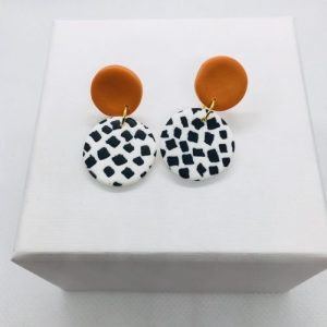 Dotty - Mini Earring (Orange Stud) - DOT101 500x500